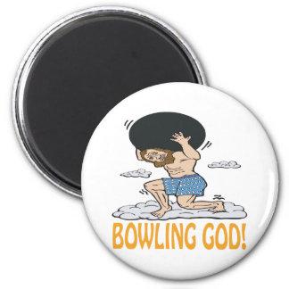 Bowling God 6 Cm Round Magnet