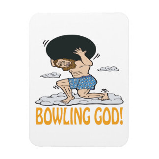 Bowling God Rectangular Photo Magnet