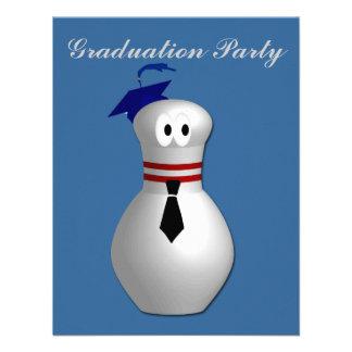 Bowling Graduation Party Invitations