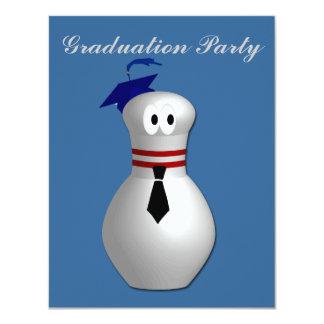 Bowling Graduation Party 4.25x5.5 Paper Invitation Card