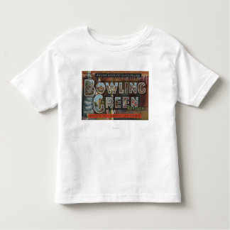 Bowling Green, Kentucky - Large Letter Scenes Toddler T-Shirt