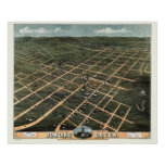 Bowling Green, KY Panoramic Map - 1871 Poster