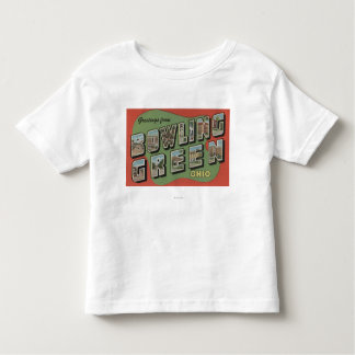 Bowling Green, Ohio - Large Letter Scenes Toddler T-Shirt