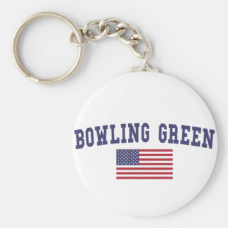 Bowling Green US Flag Key Ring