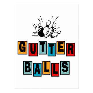 Bowling Gutter Balls Postcard