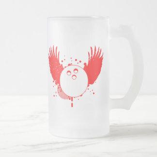 bowling : hi-fi frosted glass mug