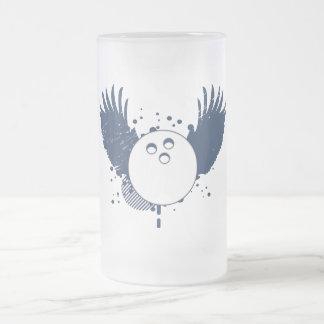 bowling : hi-fi 16 oz frosted glass beer mug