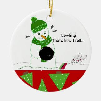 Bowling How I Roll Round Ceramic Decoration