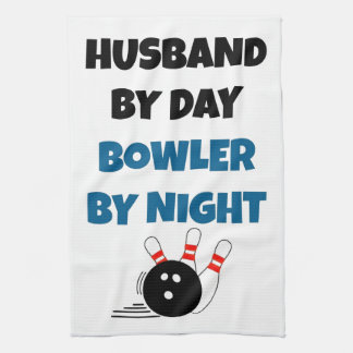 Bowling Husband Tea Towel