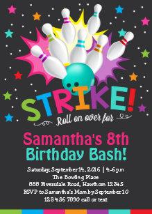 Bowling birthday invitations zazzle bowling invitation bowling birthday invite stopboris Gallery