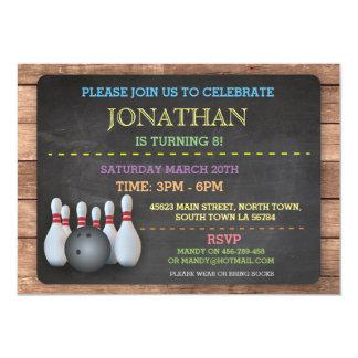 Bowling Invite Invitation Let's Bowl Chalkboard