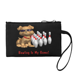 Bowling Is My Game - Dog Coin Purse