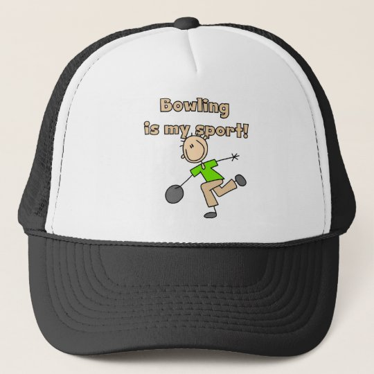 Bowling is my Sport Tshirts and Gifts Trucker