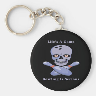 Bowling Is Serious Key Ring