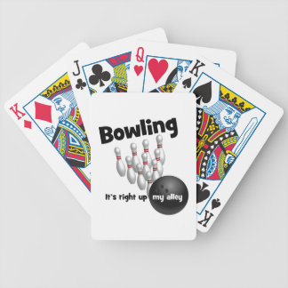 Bowling It's Right Up My Alley Bicycle Poker Deck