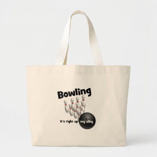 Bowling It's Right Up My Alley Jumbo Tote Bag