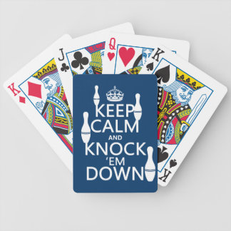 Bowling Keep Calm and Knock 'em Down - all colors Bicycle Playing Cards