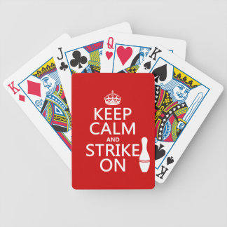 Bowling - Keep Calm and Strike On Bicycle Playing Cards