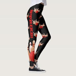 Bowling Kingpin Leggings Custom Yoga Pants