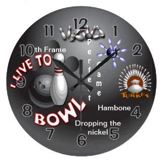 Bowling Large Clock
