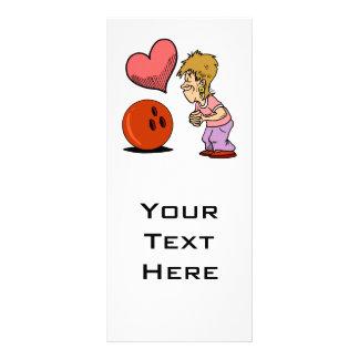 bowling love bowler humor cartoon rack card template