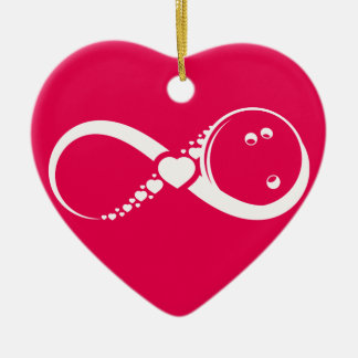Bowling Love Infinity Heart Ornament