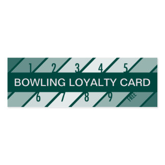 bowling loyalty card (retrograde) pack of skinny business cards