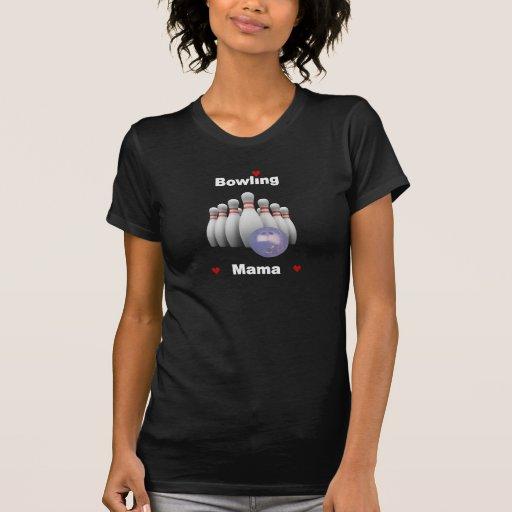 Bowling Mama Hearts Tee Shirts