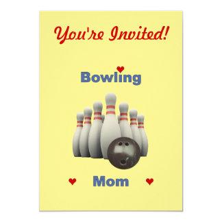Bowling Mom 13 Cm X 18 Cm Invitation Card