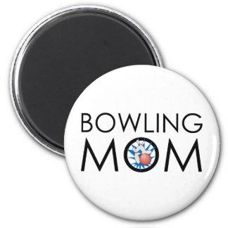 Bowling Mom Refrigerator Magnets