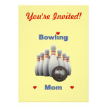 Bowling Mum Invites
