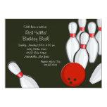 Bowling Night Invitation 13 Cm X 18 Cm Invitation Card