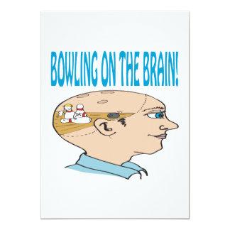 Bowling On The Brain 13 Cm X 18 Cm Invitation Card