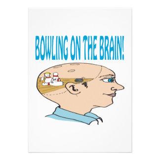Bowling On The Brain Custom Invite