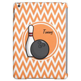 Bowling Orange and White Chevron iPad Air Covers