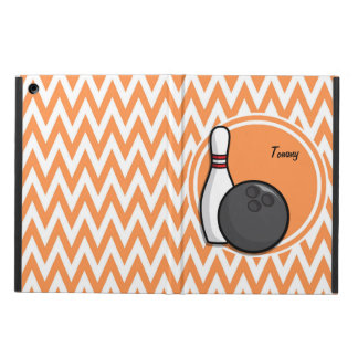 Bowling Orange and White Chevron Cover For iPad Air