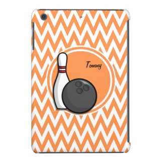 Bowling Orange and White Chevron iPad Mini Cover