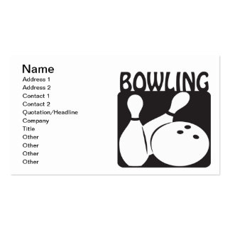 Bowling Pack Of Standard Business Cards