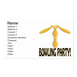Bowling Party Pack Of Standard Business Cards