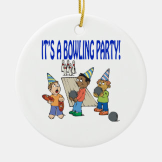 Bowling Party Christmas Ornament