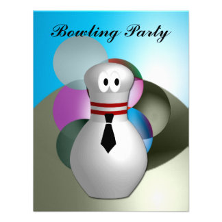 Bowling  Party Custom Invitation