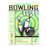 Bowling Party Invitation - Aqua