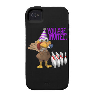 Bowling Party Invitation iPhone 4/4S Case