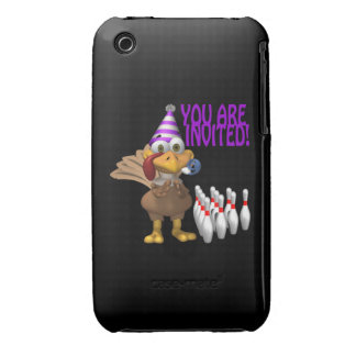 Bowling Party Invitation Case-Mate iPhone 3 Cases