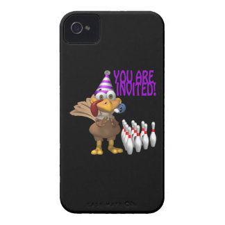 Bowling Party Invitation iPhone 4 Covers