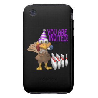 Bowling Party Invitation iPhone 3 Tough Cover