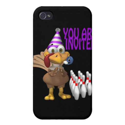 Bowling Party Invitation Case For iPhone 4
