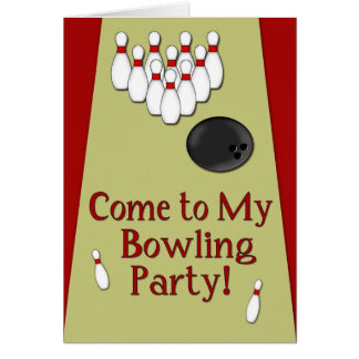 Bowling Party InvitationCard Greeting Card