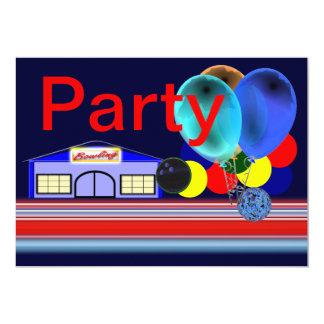 "Bowling Party Invitations 5"" X 7"" Invitation Card"
