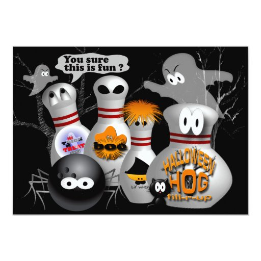"Bowling Party Invitations 5"" X 7"" Invitation Card"